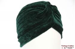 Tulband groen fluweel 55-59 [nieuw]