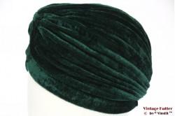 Turban green velvet 55 - 59 [new]