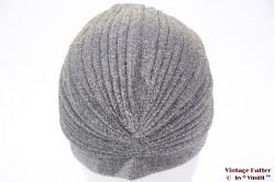 Turban silver lurex velvet 55 - 59 [new]