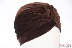Tulband bruin fluweel 55-59 [nieuw]