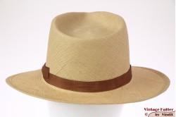 Brixton Limited Verona tan fine straw hat 56 [New Sample]