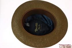 Brixton summer fedora greenish brown straw 58 [New Sample]