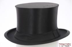 Opera hat (Top hat / Gibus) Fidem Optimo black silk 54 (XS)