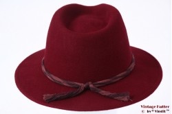 Fedora Brixton Cobet Burgundy woolfelt 59 [New Sample]