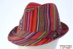 Trilby Hawkins Peruvian style orange pink purple 59 [new]
