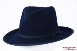 Fedora Brixton Manhattan navy blue felt 56,5 [New Sample]