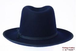 Fedora Brixton Manhattan navy blue felt 56,5 [New Sample]