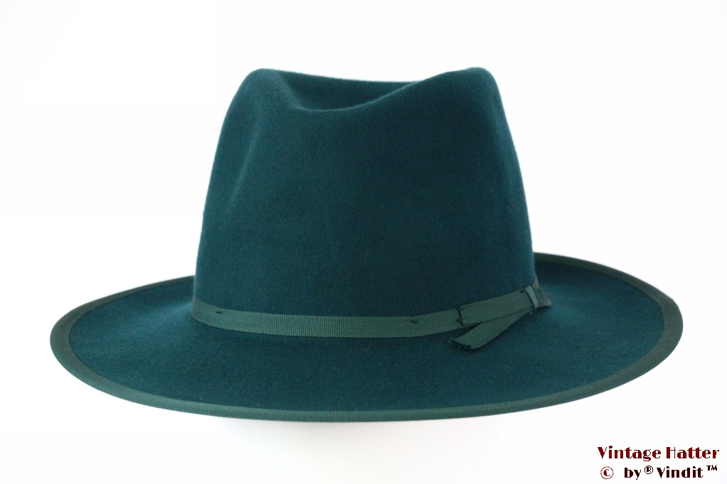 Fedora Brixton Manhattan turkois felt 58,5 [New Sample]