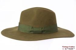 Wide brim fedora Brixton Duvall olive green 56,5 [New Sample]