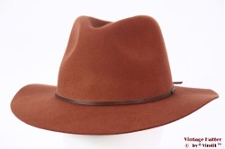 Fedora Brixton Wesley caramel brown 56-58 Adjustable [New Sample]