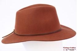 Fedora Brixton Wesley caramel brown 56-58 Adjustable [New Sample]