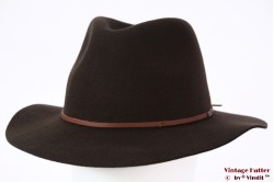 Fedora Brixton Wesley dark brown 56-58 Adjustable [New Sample]