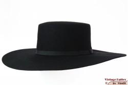 Brixton Ally II wide flat brim hat black felt 58 [New Sample]