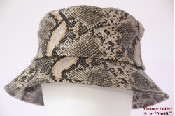 Fisherman Buckethat Hawkins beige silver snakeprint 57 [new]