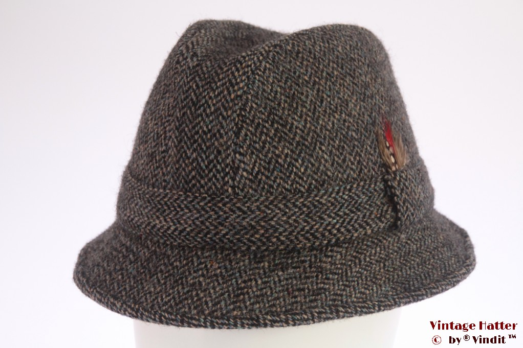Fisherman hat Harris Tweed blue 58