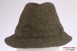 Fisherman hat Harrods green herringbone tweed 57