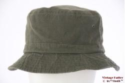 Vissers bucket hoed Hawkins donker groen katoen 59 [nieuw]