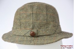 Fisherman hat Dents green herringbone tweed 55-56