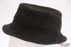 Fisherman hat Benet dark green plaid 55 (S) [new]