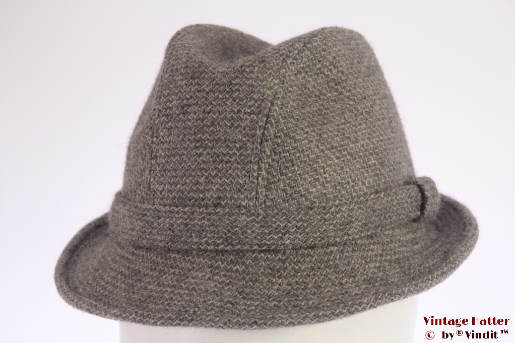 Fisherman hat Elegant grey wool 54 (XS)