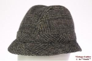 Fisherman hat grey herringbone 56