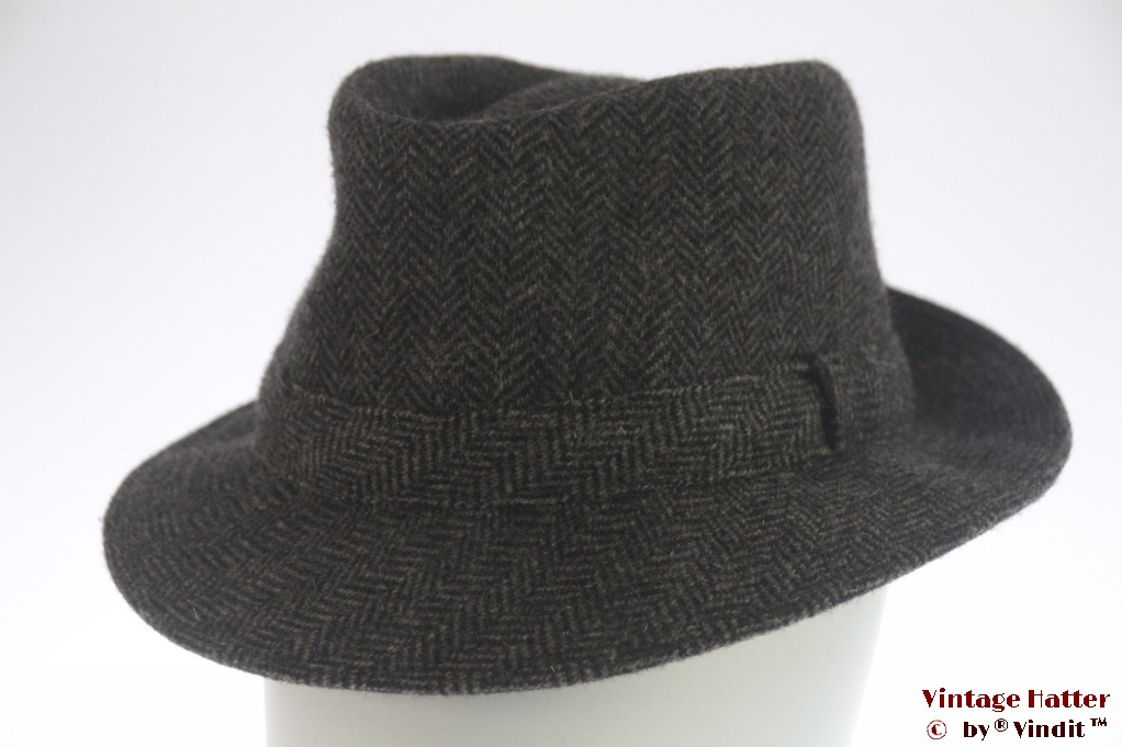 Fisherman hat grey herringbone 57