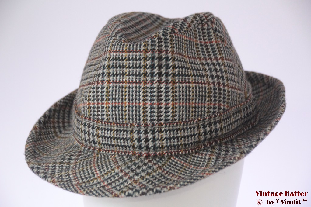 Fisherman hat Dunn & Co bluish grey wool 59