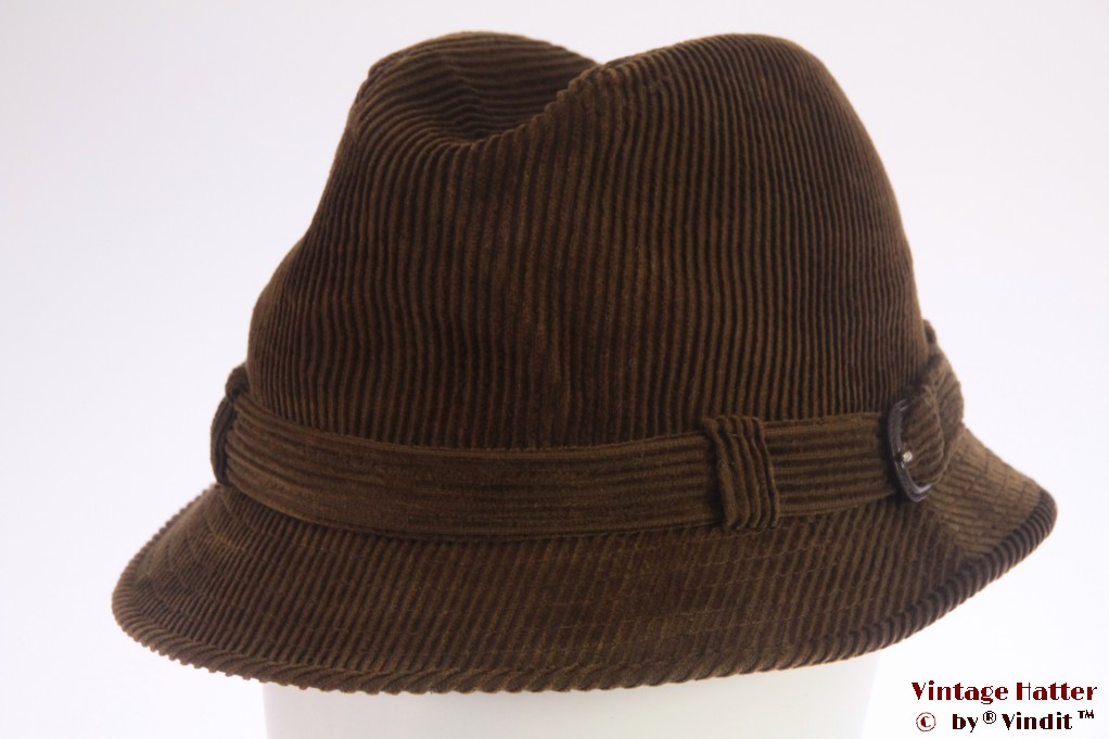 Fisherman hat Dunn & Co. brown corduroy 58