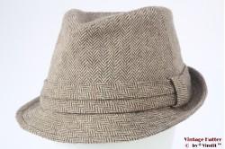 Vissershoed San Diego Hat Co. bruin vissengraat 60 (XL)