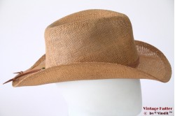 Western straw hat Hawkins beige brown shapable 56-59 [new]
