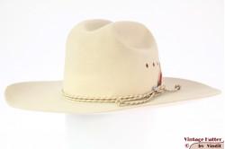Wijde western hoed Bailey 5X Beaver crèmewit vilt 59
