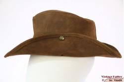 Australian Western hat Minnetonka brown raw leather 56
