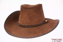 Australische Western hoed Coastline Hat Co. bruin leer 58