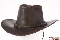 Western outdoor hoed bruin leer 57,5