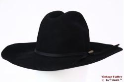 Wijde Western hoed Tacchino Alessandria zwart vilt 55 (S)