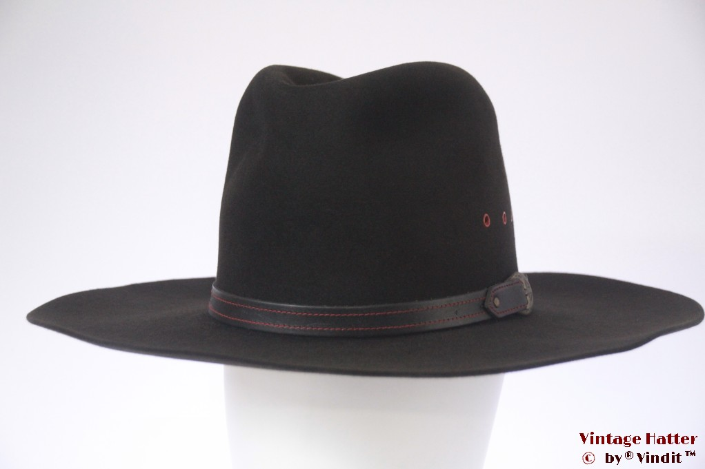 Wide Western hat Bailey 5X Beaver black felt 57