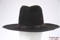 Wijde Western hoed Bailey 5X Beaver zwart vilt 57