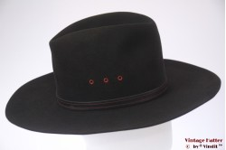 Wide Western hat Bailey 5X Beaver black felt 57