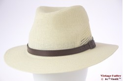 Ventilerende zomer gleufhoed Hawkins groenig wit 59-61 (XL) [nieuw]