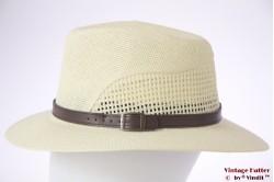 Ventilating summer fedora Hawkins greenish white 59-61 (XL) [new]