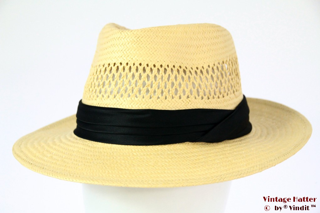 Brixton Goodman Straw Fedora Tan 58 [New Sample]