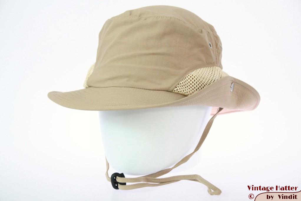Summer safari hat Hawkins khaki beige with mesh 61 (XXL) [new]
