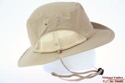 Zomer safari hoed Hawkins khaki beige met mesh 59 [nieuw]