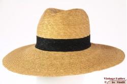 Wijde zomerhoed Andrew Wilkie geel bruin stro 54,5 (XS)