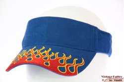 Visor SkyHigh blue with red flames and velcro 52-63 [new]