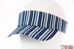 Zonneklep SkyHigh blauw wit gestreept katoen 49-61 [Nieuw]