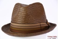 Brixton Castor summer straw fedora brown 58 (M) [New Sample]