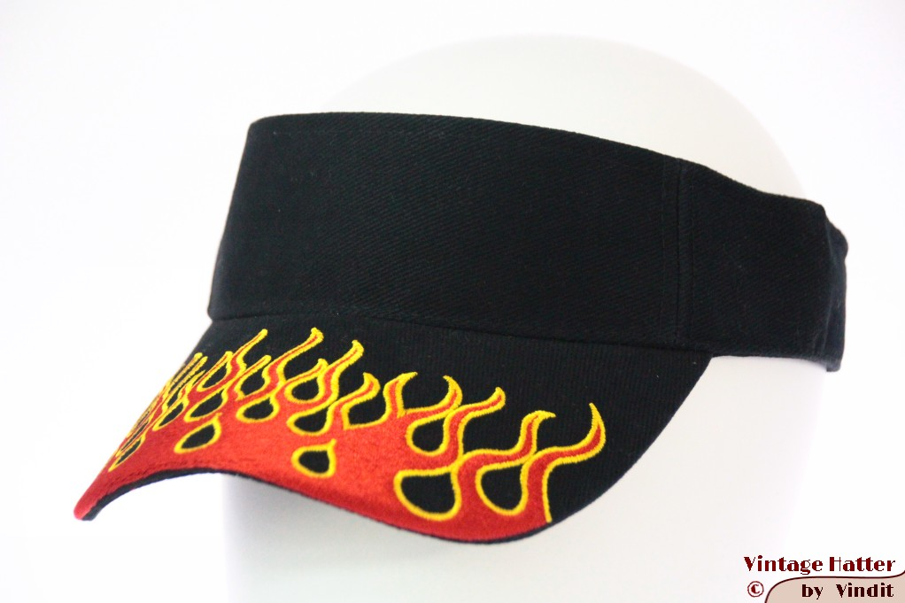 Visor SkyHigh black with red flames and velcro 52-63 [new]