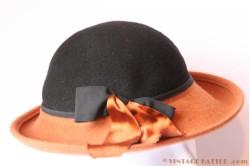 Ladies hat brown and black 53