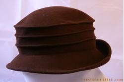 Ladies hat dark brown 55